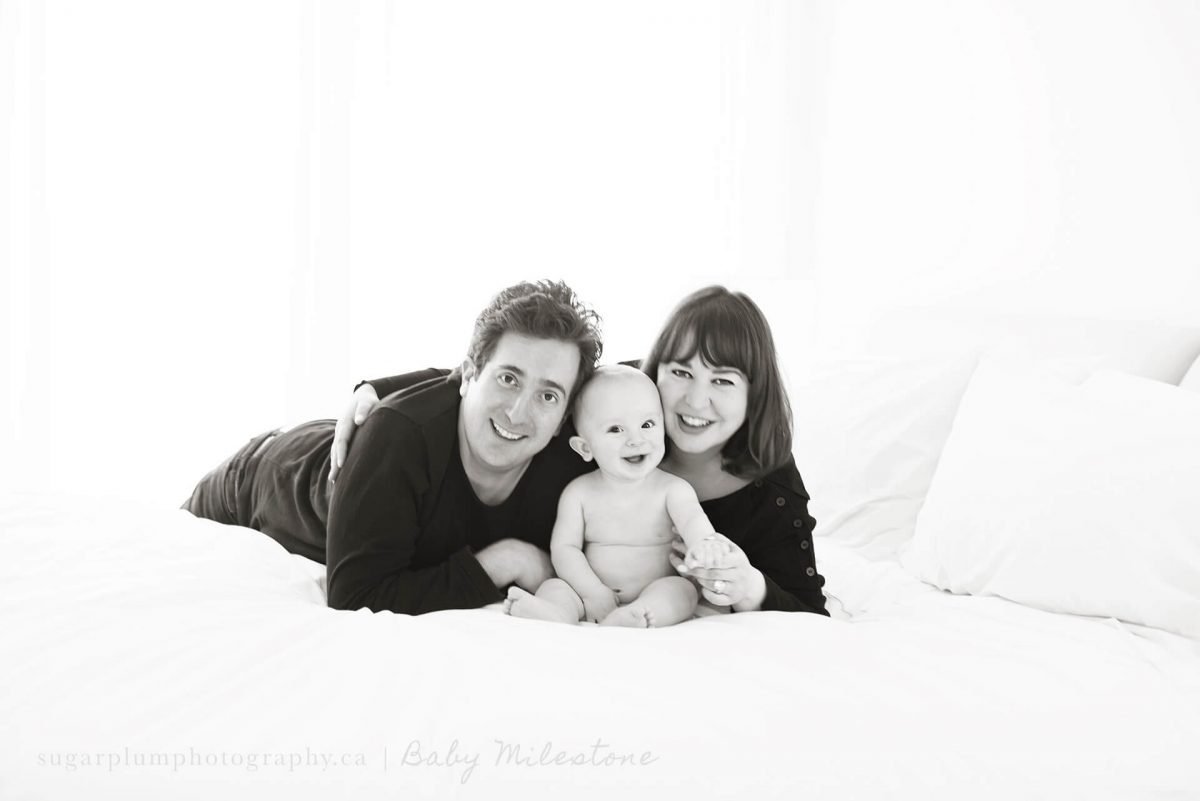 In-home family photography session