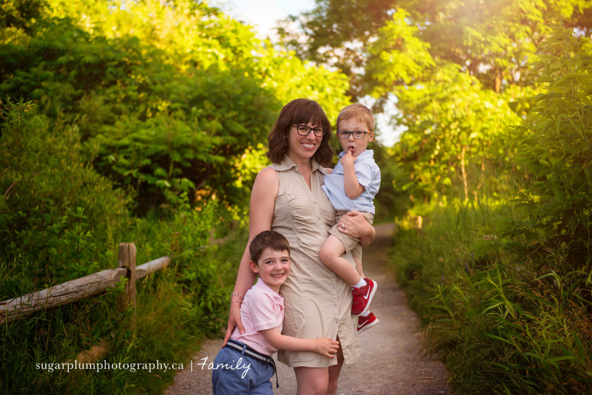 Summer outdoor picture on wooden overgrown trail
