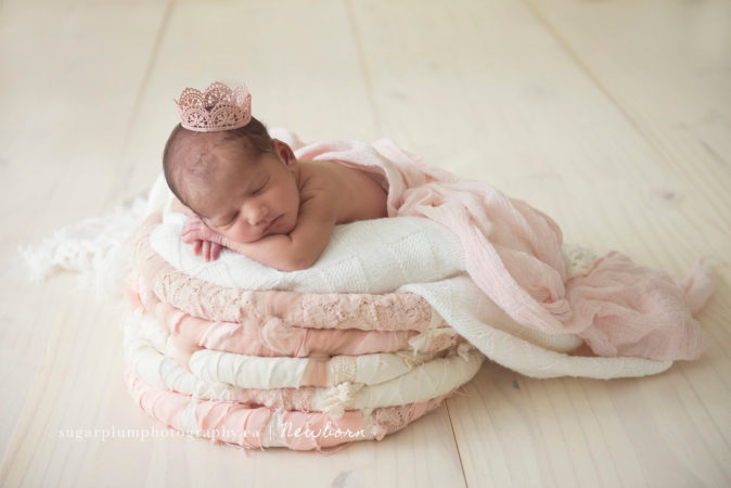 Studio lighting for newborn shoot