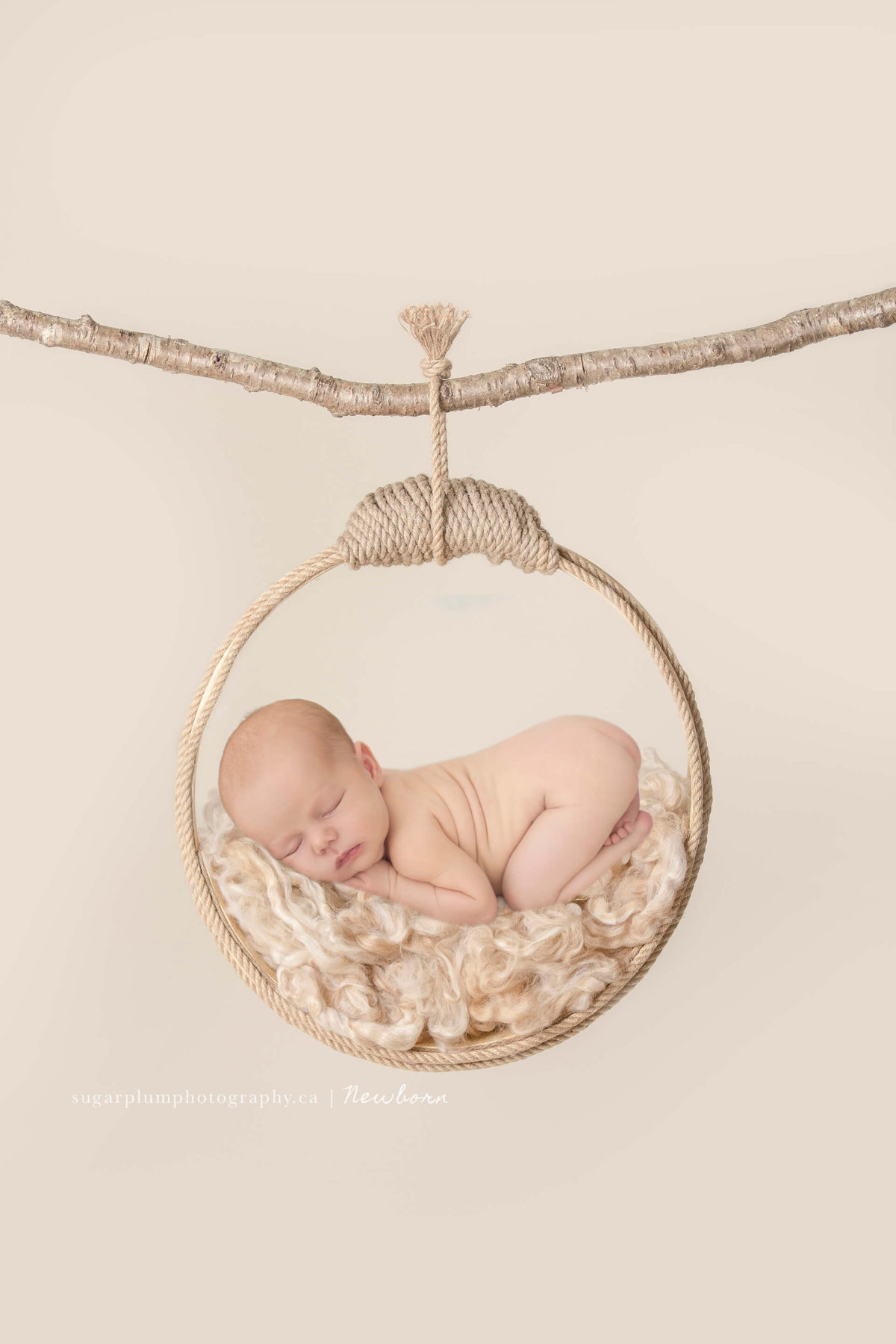 hanging baby composite with hoop on branch