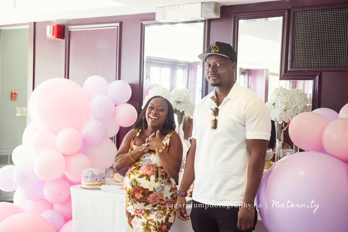laughing during baby shower speech