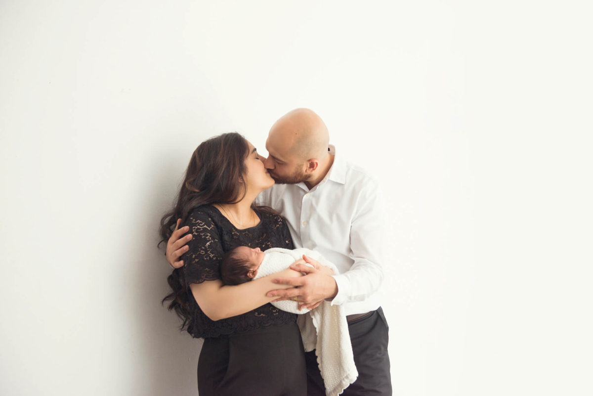 modern newborn session